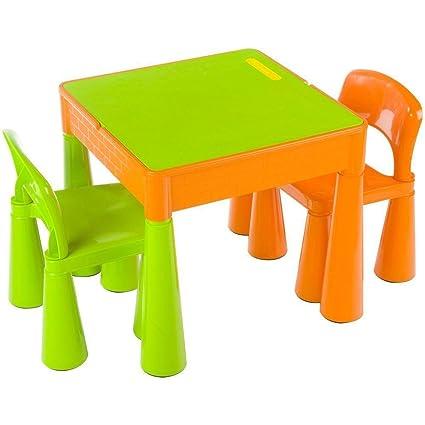 Mesa y dos sillas infantiles para niños Tega baby Mamut color Verde ...