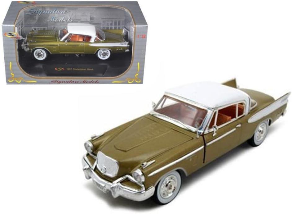 Signature Models 1957 Studebaker Golden Hawk Gold 1/32 Diecast Model Car