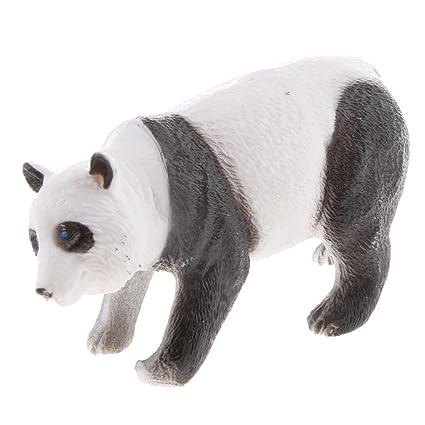 Juguetes de Peluches Modela de la Figura de Animal Mini Panda Plástico