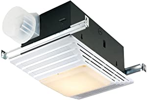 Broan-Nutone659Heater, Fan, and Light Combo for Bathroom and Home, 2.5 Sones, 1300-Watts, 50 CFM
