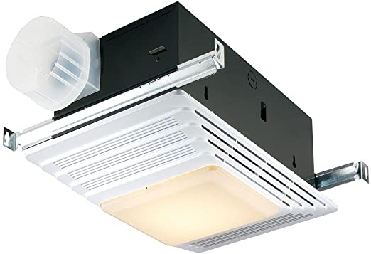 Broan-NuTone 655 Bath Fan and Light with Heater, 70 CFM 4.0 Sones, on