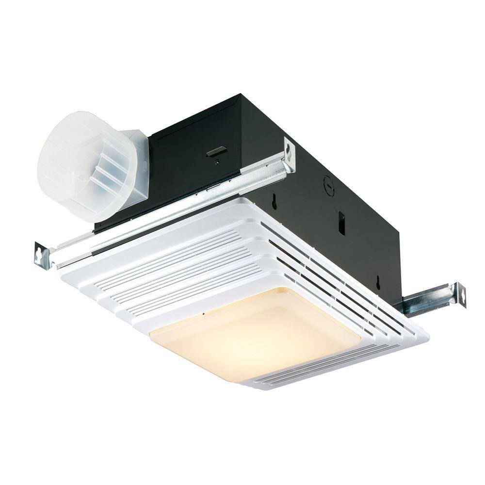 Broan 659 Heater and Fan with Light, 50 CFM 2.5 Sones, White Grille