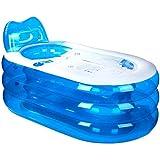 Bathtub Gruesa Bañera Inflable, Bañera de PVC para Adultos, Bañera de plástico Plegable, Cubo (L x A x H: 145 * 80 * 70 cm)