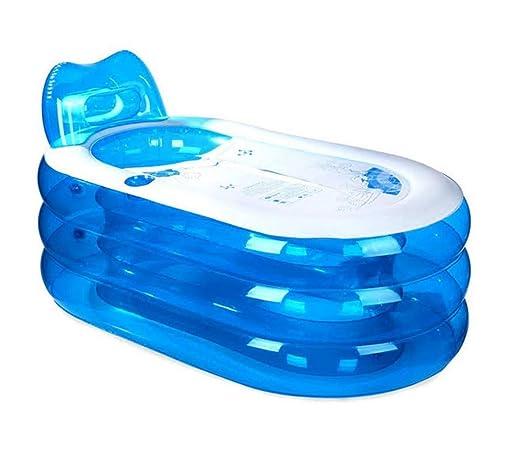 Bathtub Gruesa bañera Inflable, bañera de PVC para Adultos, bañera ...