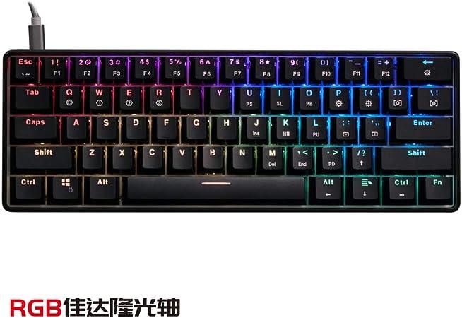 Teclado de juegos gk61 esports juego teclado mecánico eje ...
