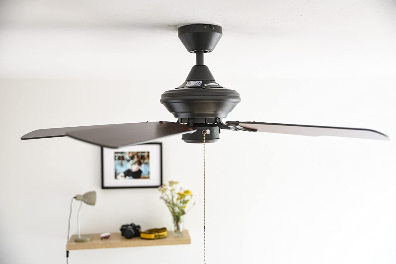 Modell//Farbe :Eisen gl/änzend mit Wandschalter Westinghouse Deckenventilator ohne Licht Nevada 105 cm f/ür R/äume bis 20 m/²,