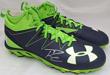 4a41e2b5 Image Unavailable. Image not available for. Color: Russell Wilson  Autographed Under Armour Cleats Shoes Seattle Seahawks RW Holo #42139 - Autographed  NFL