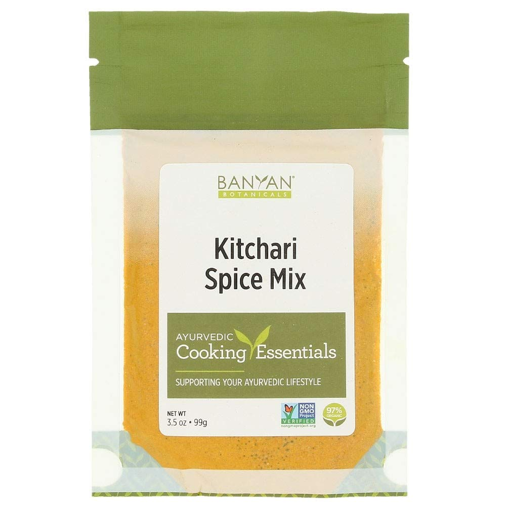 Banyan Botanicals Kitchari Spice Mix – 97% Organic Ayurvedic Spice Mix with Turmeric, Ginger & Brown Mustard Seed – for Digestion & a Healthy Appetite – 3.5oz – Non GMO Sustainably Sourced Vegetarian
