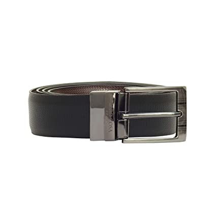 cce99f638 CARO COSA Leather Men Black Brown Belt  Amazon.in  Bags