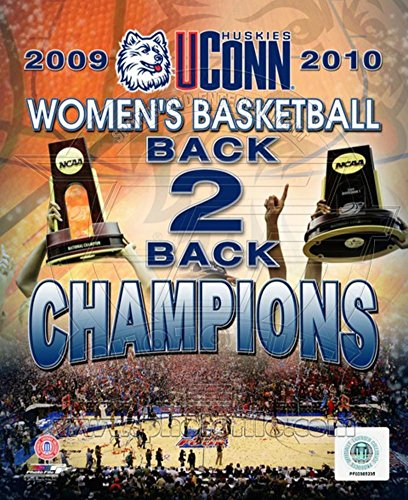 (University of Connecticut Huskies Women's Basketball Back to Back Championships Composite Photo 11 x)
