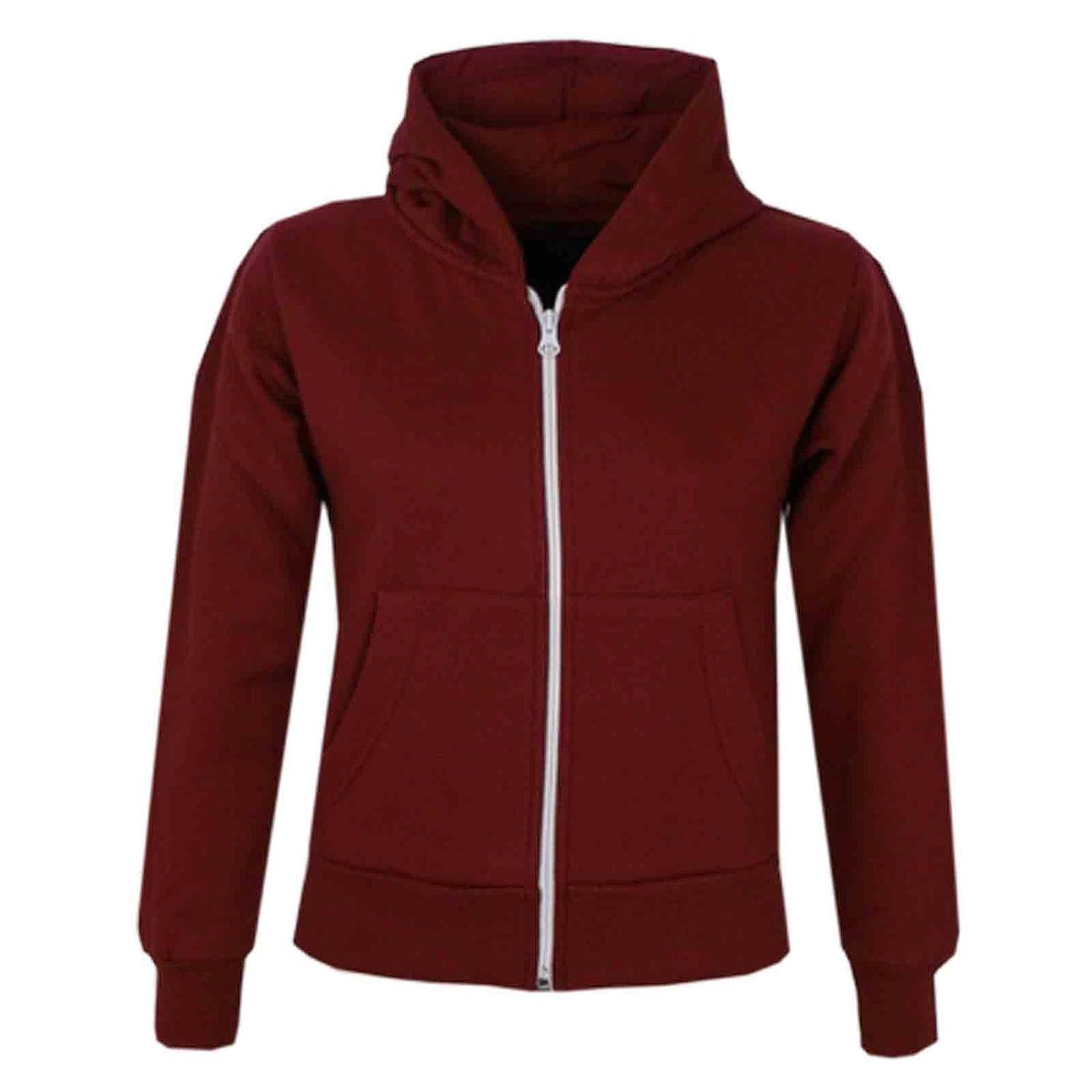 A2Z 4 Kids Kids Jacket Girls Boys Plain Fleece Hoodie Zip Up Style Zipper 5-13