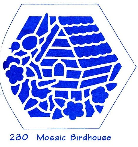 - Heritage Handcrafts Stencil - Mosaic Birdhouse