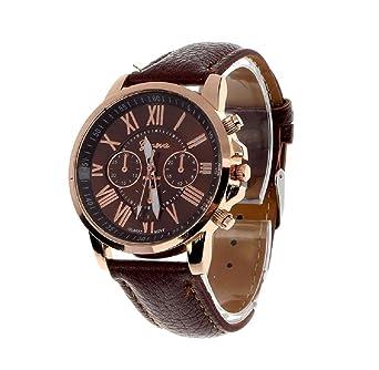 Armbanduhr römische zahlen  Covermason Damen Quarz Armbanduhr Uhr Faux Leder Band Römische ...