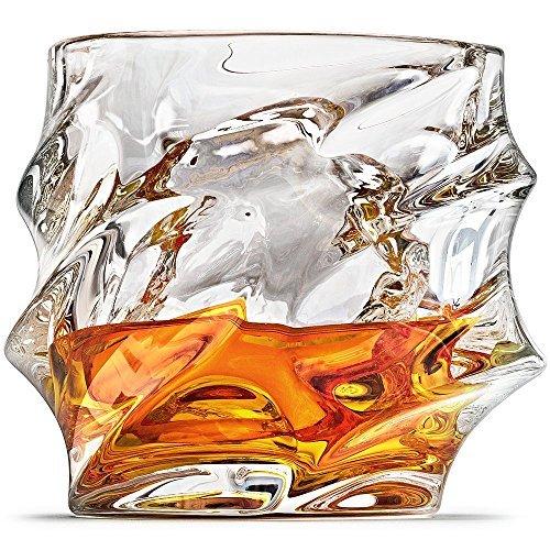Ashcroft Everest Whiskey Glasses – Set of 2 – 10oz Whiskey glasses for men Crystal Rocks Whisky Glass for Scotch…