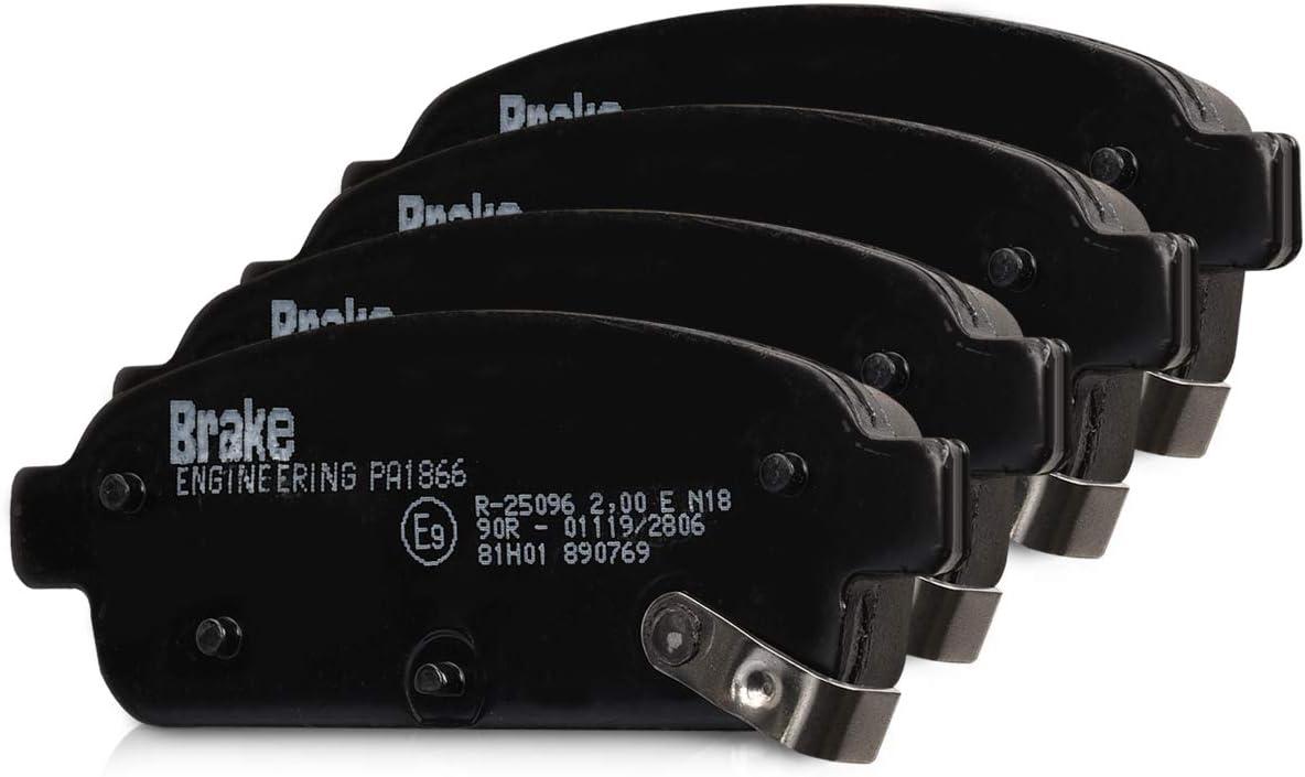 Brake ENGINEERING PA1866 Bremsbelagsatz 4X Auto Bremsbel/äge Bremskl/ötze f/ür Bremsscheiben Hinterachse