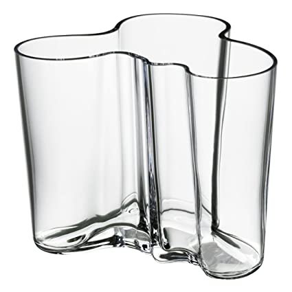 Amazon Iittala Alvar Aalto Vase 120mm 474 Clear Home Kitchen
