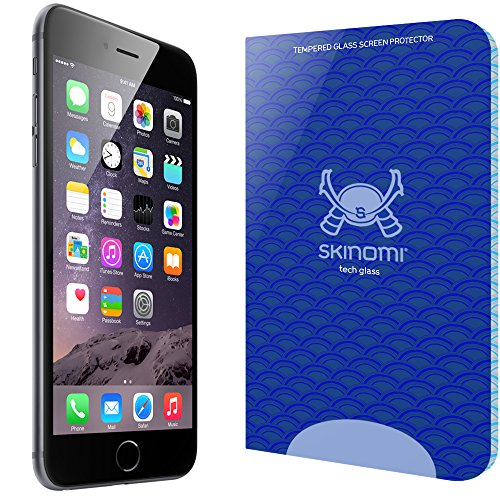 iPhone 6 Plus Screen Protector (5.5,Apple iPhone 6S Plus), Skinomi Tech Glass Screen Protector for iPhone 6 Plus Clear HD and 9H Hardness Ballistic Tempered Glass Shield