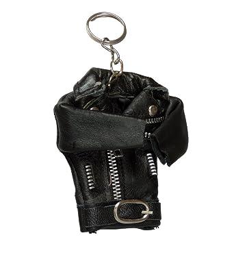 Amazon.com: Miniatura chamarra de moto de piel llavero ...