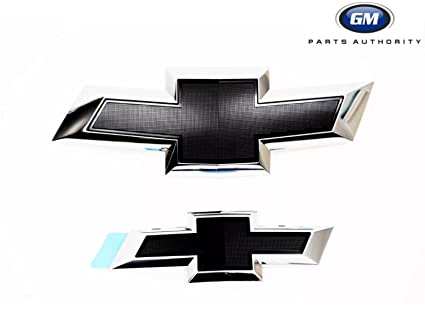 Gm 23287538 Front Grille And Decklid Bowtie Emblems In Chrome With Black Insert 2015 2016 Chevrolet Impala Genuine Gm Accessories