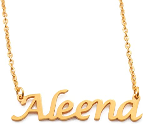 18ct Rose Gold Plated Kigu Celina Custom Name Necklace Personalized
