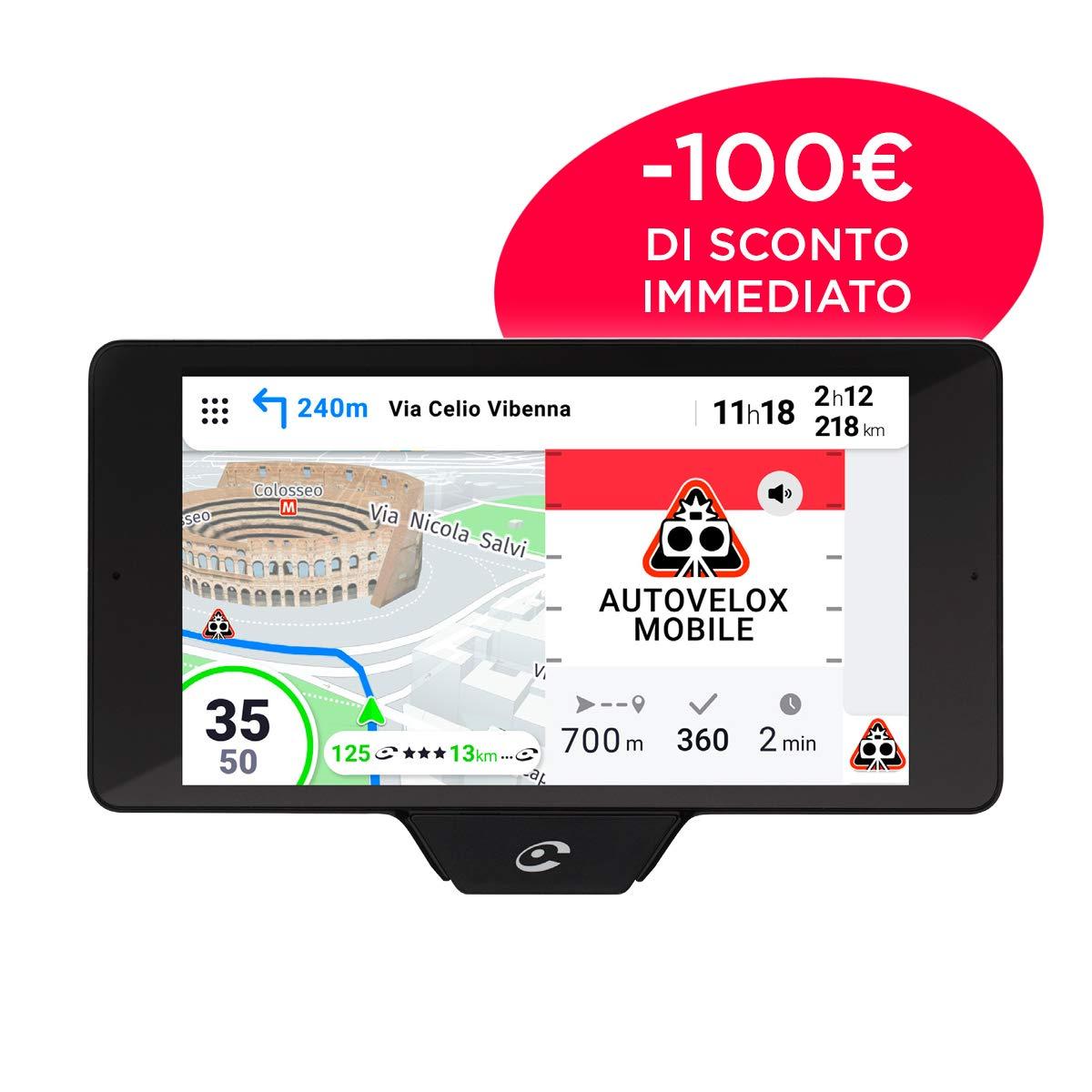 GPS con mappa 3D COYOTE NAV+ Assistenza alla guida Allerte in tempo reale Grande schermo HD 5,5 Visualizzazione di eventuali imprevisti fino ad una distanza di 30 km