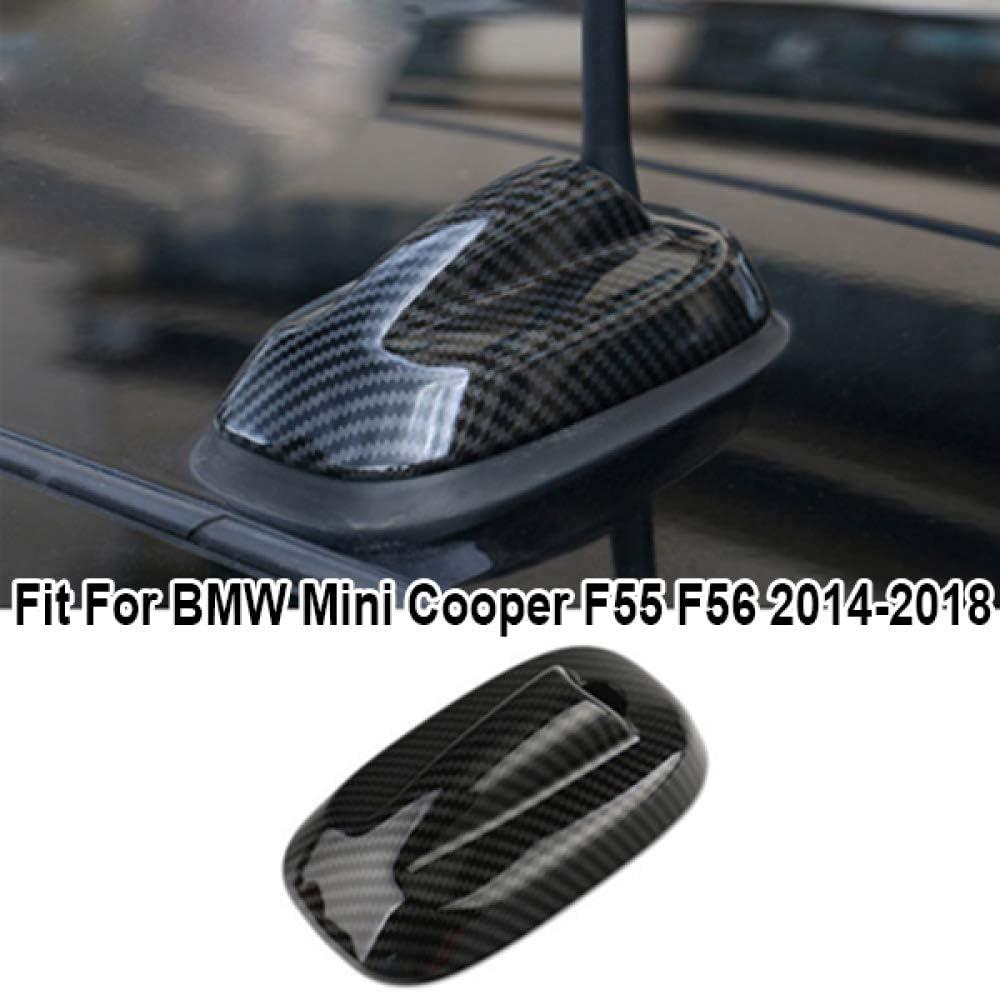 KWWBLX Antenne de Voiture pour BMW Mini Cooper F55 F56 2014-2018 Garniture de Couverture dantenne en aileron de Requin en Fibre de Carbone
