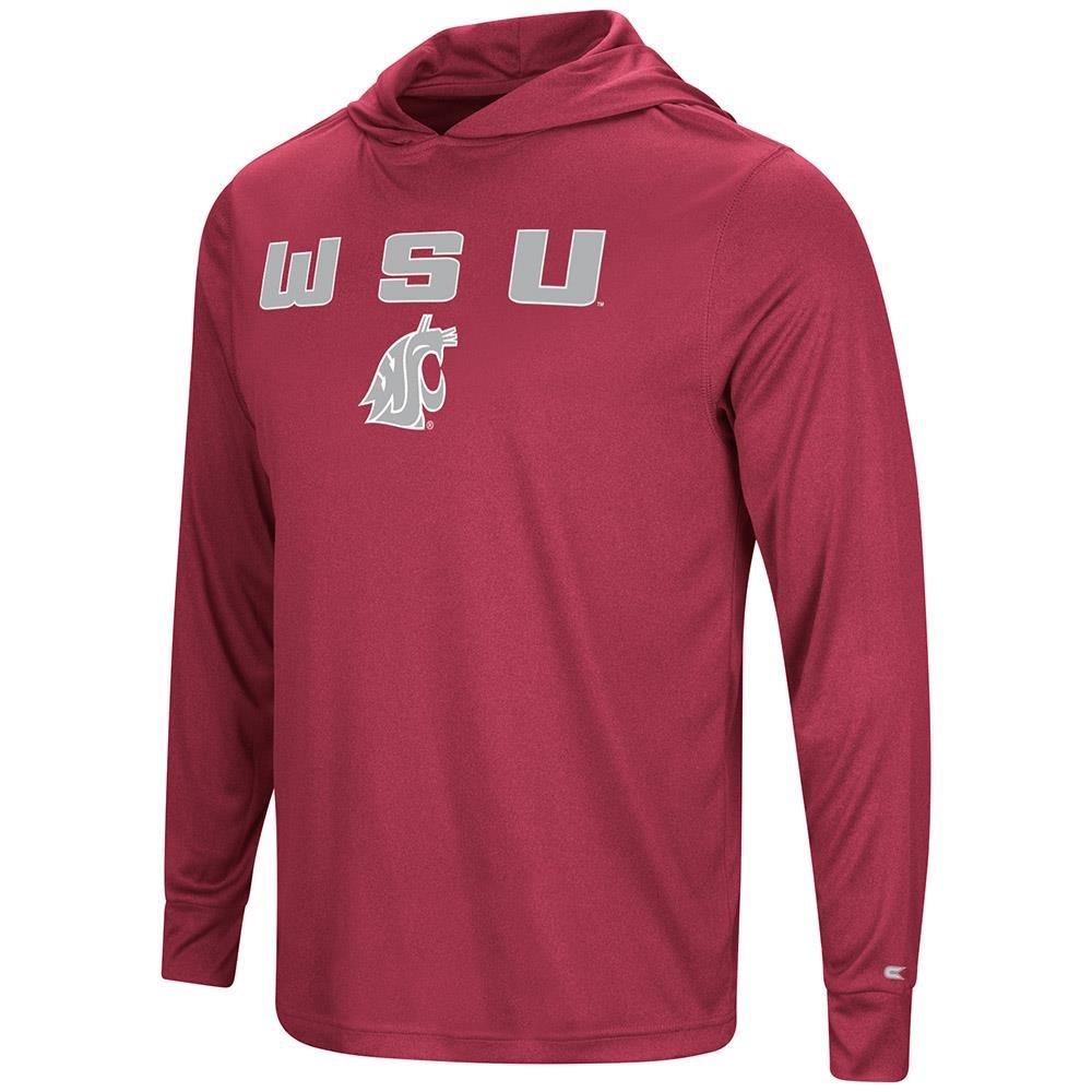 メンズWashington State Cougars長袖フード付きTシャツ B079591P14  Small