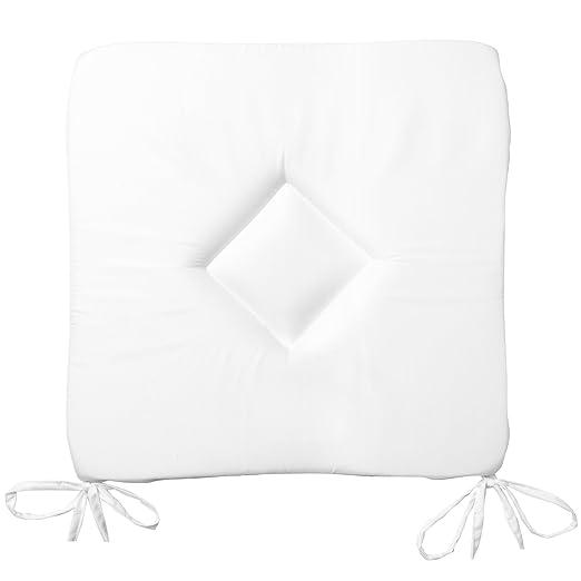 2 opinioni per Beautissu Set da 6 cuscini decorativi sedia Kim 40x40x3cm con lacci- soffici e