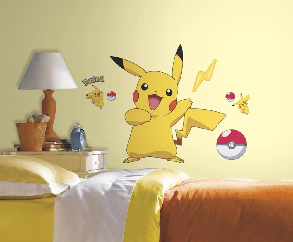 Amazon.com: RoomMates RMK2536GM Pokemon Pikachu Peel and Stick Wall ...