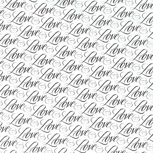 Gift Love Wedding - Jumbo Gift Wrap 16'X30