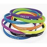 Amazon Com Rubber Thin Inspirational Bracelets 12 Pack