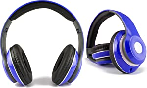 Votec Compatible 3.5mm Stereo Hands-free Headphones Headset w/Detachable Mic Volume Control for Most Devices (iPhone 4/5/6, Motorola, Google, LG, ZTE, HTC, Huawei Plus more!) (Blue)