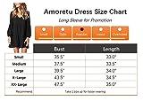 Amoretu Women Long Sleeve Tunic Dress V Neck