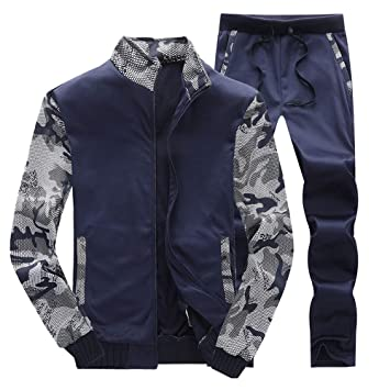 d384ef503e Amazon.com: 2018~2019 Winter Mens Tracksuit Warm Fleece Sport ...