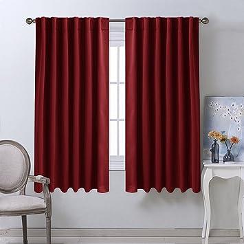 Amazon.com: Burgundy Bedroom Blackout Draperies Panels - (Burgundy ...