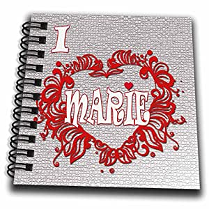 3dRose RinaPiro - Love Quotes - I Love Marie. Love is forever. - Mini Notepad 4 x 4 inch (db_261308_3)