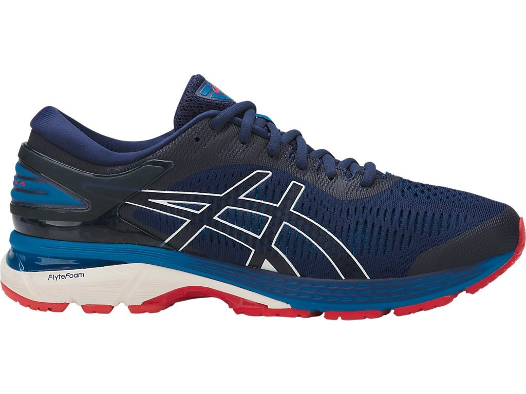 ASICS Men's Gel-Kayano 25 Running Shoes, 9.5M, Indigo Blue/Cream by ASICS