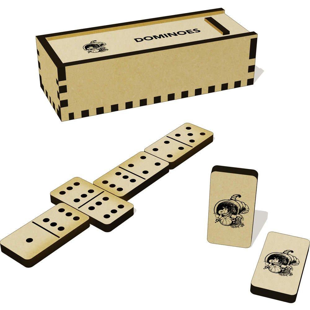 Und Azeeda Dm00007707 Box Füllhorn Domino Spiele Spiel b6yfYgv7
