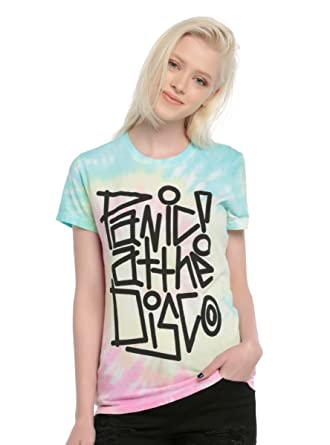 bb5ef6284b764 Amazon.com  Hot Topic Panic! at The Disco Tie Dye Girls T-Shirt ...