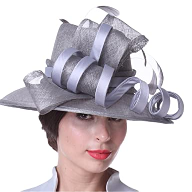 075f57b05b633 Kueeni Women Hats Stylish Hats For Wedding Mother Of Bride Hats Silver