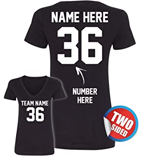 Custom 2 Sided Tshirts - Front & Back - Design Your Own T Shirt - Customized