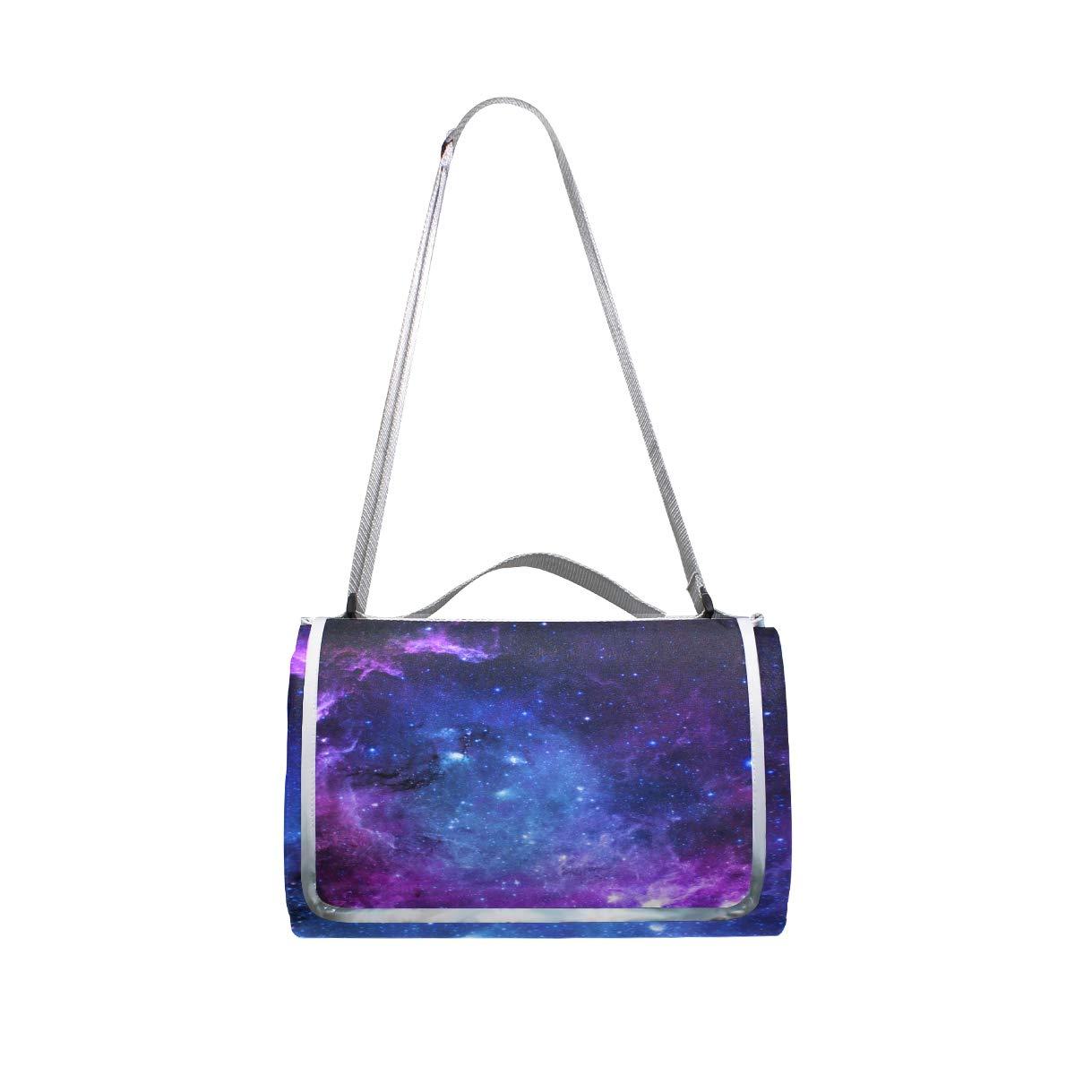 jeansame Stars - Manta de pícnic, diseño de Galaxia, Plegable, Impermeable, Plegable, Galaxia, 150 x 145 cm 5787d7