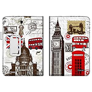ICONIA TAB 8 W W1-810 Case,CocoZ cowhide Leather Sheath kickStand Card slot Folio Elastic Hand Non-slip Automatic for Acer ICONIA TAB 8 W W1- 810 8 inch (Red British Phone Booth)