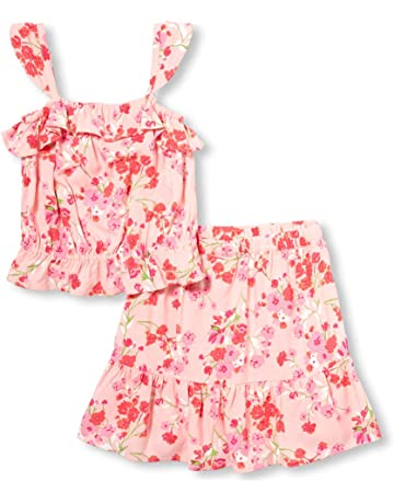ef34a98a7 The Children's Place Girls' Big Graphic Sleeveless Ruffle Top Skirt Set