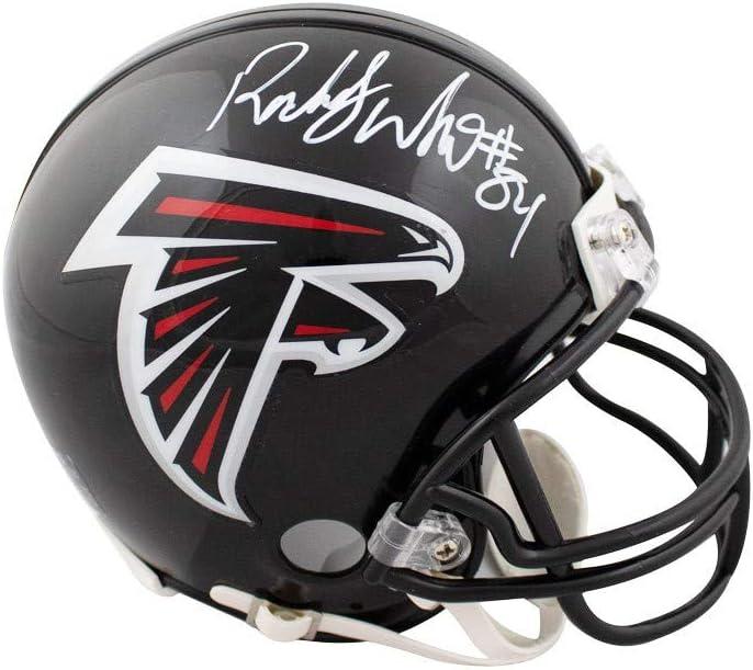 Roddy White Autographed Atlanta Falcons Mini Football Helmet JSA COA