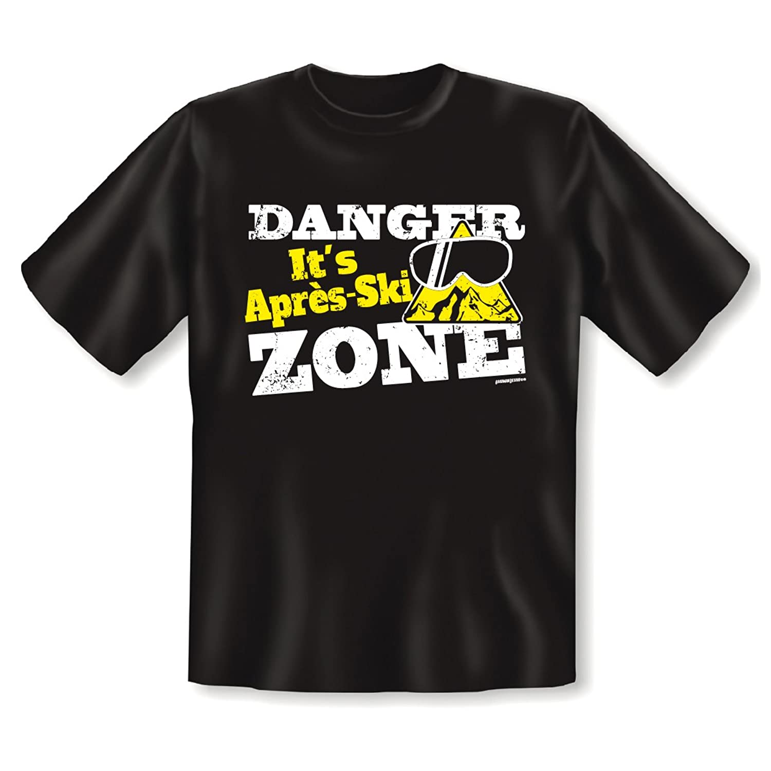 Super T - Shirt für die Skihütte : DANGER ! Its Apres Ski Zone! cooles Motiv von Goodman Design
