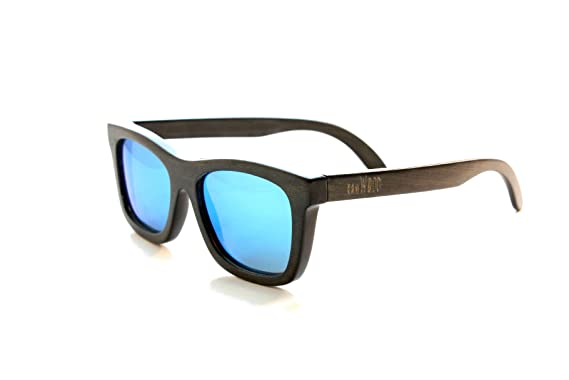 74ebfef2a0e Amazon.com  RawWood Originals Black Blue Polarized Bamboo Wood ...