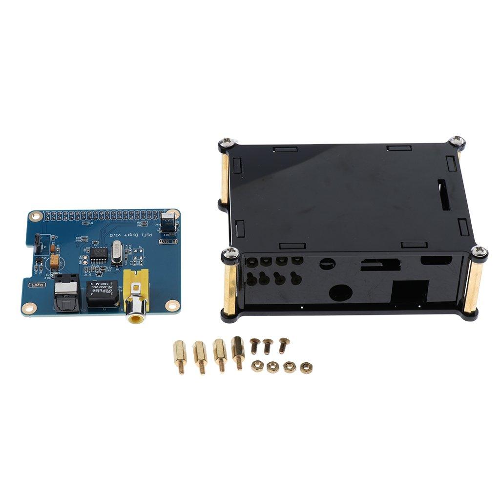 MagiDeal HIFI Digi Sound Card I2S SPDIF Optical Fiber+Acrylic Case for Raspberry pi 3 Model B/B+, Pi2 Model B