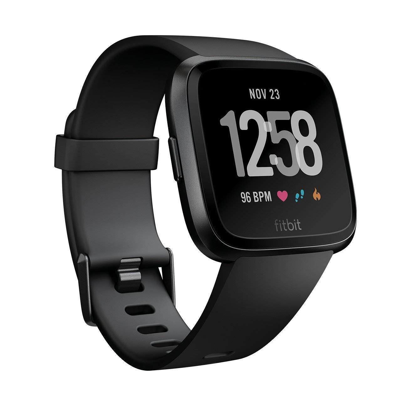 逸品 Black B07bgw4g1b 並行輸入品 スマートウォッチ フィットビットアクティビティトラッカー 活動計 Fb504gmbk Black Versa Fitbit 活動量計 App Acuteart Com