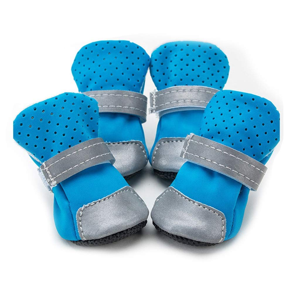 bluee S bluee S Huayue Prosperous Breathable Pet shoes Dog Pet Supplies shoes (color   bluee, Size   S)